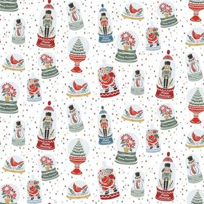 Lamb Illustration's Snow Globe Christmas Pattern