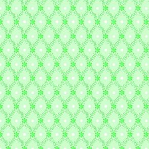 1830s Medium Mint Sprigs Dots