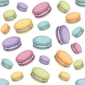 """8"""" Pastel Macaron Cookies Pattern"""