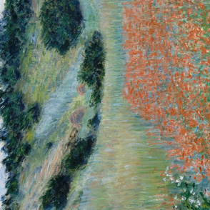 Claude Monet tea towel // Poppy field in a hollow near Giverny