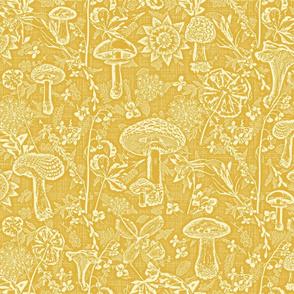 mushroom garden mustard