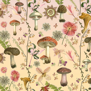 mushroom garden ombre