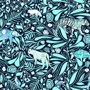 jewel tone zoo [emerald]