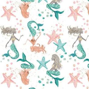 Glitter Mermaids // White