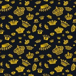 Royal Crowns - Yellow on Black