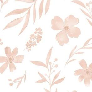 Peachy rose watercolors no 2