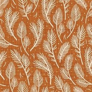 Warm Christmas. Elegant spruce design