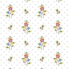 regency floral dots