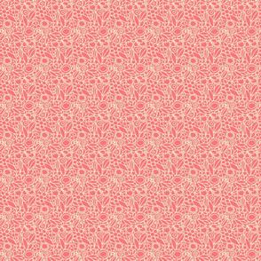 botanical lines coral