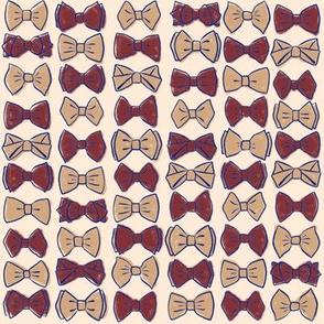 Bow Ties - Burgundy LG