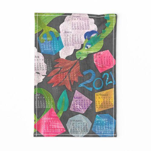 Dragons Hoard 2021 Tea Towel Calendar