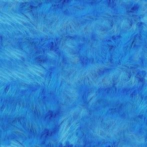 Blue Faux Fur 8x8
