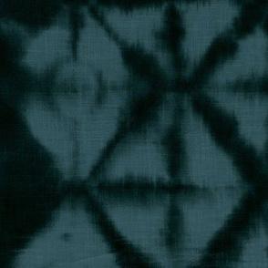 Soft tie dye boho texture winter shibori traditional Japanese neutral cotton print denim blue night XL