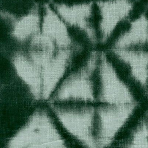 Soft tie dye boho texture winter shibori traditional Japanese neutral cotton print Green sage XL