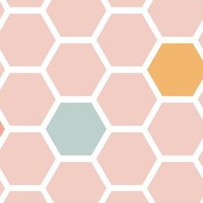 Honeycomb Tile - Pink (large)
