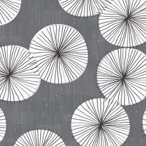 Umbrellas Mustard Drizzle by Friztin