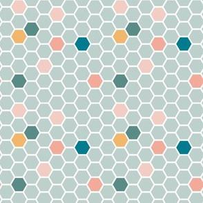 Honeycomb Tile - Sky Blue (small)