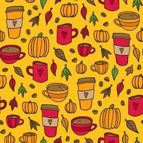 Pumpkins & Coffee (Gold)