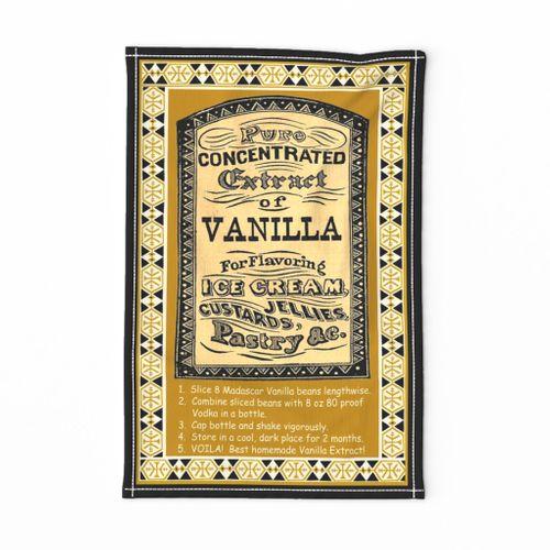 African Vanilla Extract Tea Towel 27x18x150Hor