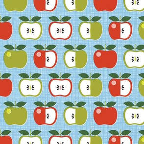 Apple of My Eye* (Polymer) || leaves fruit seeds teacher school nature snack pastel aqua