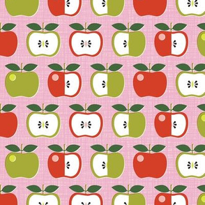 Apple of My Eye* (Pink Cow) || leaves fruit seeds teacher school nature snack pastel