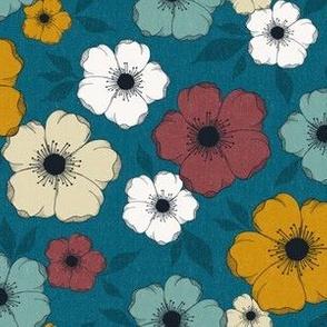 Anemone Floral - retro