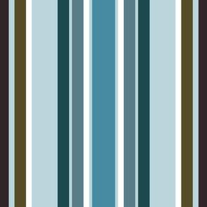 Winter River Stripes