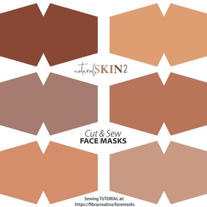 Natural skin face mask cut out fabric panel // tan and brown skin tones