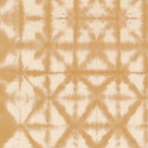Soft tie dye boho texture autumn fall shibori traditional Japanese neutral cotton print ochre yellow SMALL