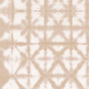 Soft tie dye boho texture autumn fall shibori traditional Japanese neutral cotton print beige sand SMALL