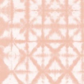 Soft tie dye boho texture autumn fall shibori traditional Japanese neutral cotton print apricot pale pink SMALL