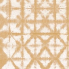 Soft tie dye boho texture autumn fall shibori traditional Japanese neutral cotton print sunset siena orange SMALL
