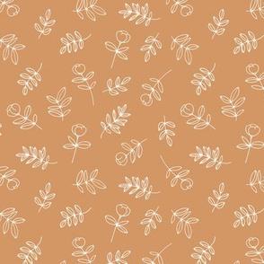 Petals and flowers boho summer garden poppy cotton autumn love neutral nursery burt orange caramel