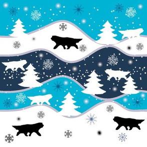 Christmas wave Large