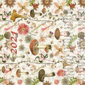 2021 Mushrooms Vintage Calendar