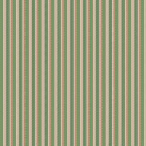 Fall Multi Stripes Leaf Green Tan Brown