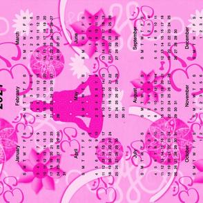 2021 Calendar Pink Yoga Meditation