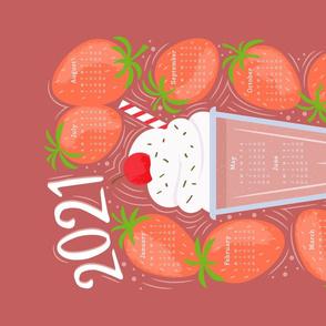2021 Tea Towel - Strawberry Milkshake