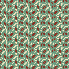 Acorns & Leaves Jadeite