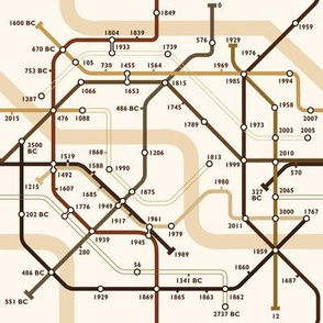 Time Travel Map Sepia