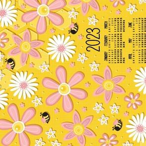 2021 Busy Bee Tea Towel Calendar