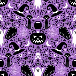 Halloween Damask (Purple Small)
