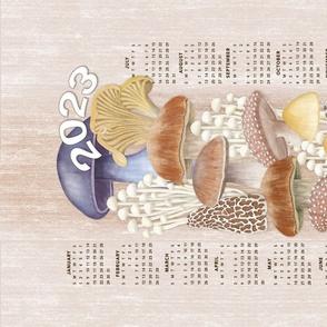 Mushroom Lovers Calendar Tea Towel