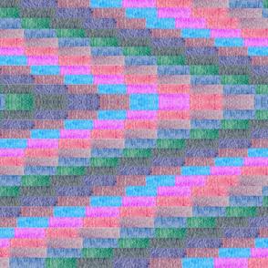 large multi Color Diamond  Pattern