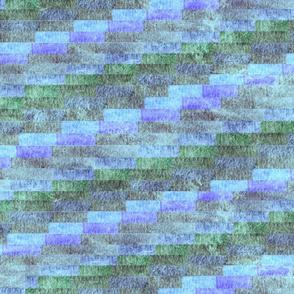 large diamond pattern  blues lavender greens
