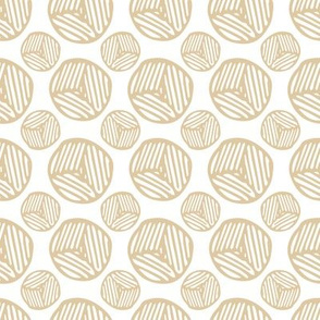 Circles Block Print - Toffee (small)