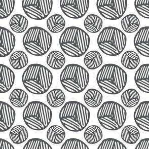 Circles Block Print - Dark Grey (small)