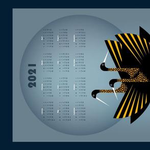 a congregation of egrets 2021 calendar