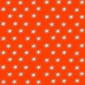snowflakes on orange
