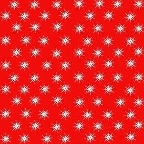 snowflakes on red